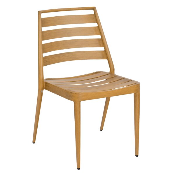 Daytona Slat Stacking Patio Dining Chair by Woodard