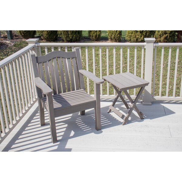 Esquivel Ironwood Modern Adirondack Chair with Table by Rosecliff Heights