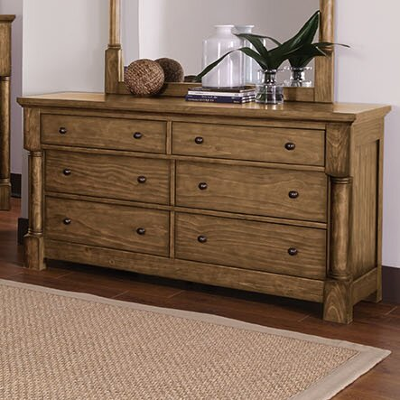 Burndale 6 Drawer Double Dresser by Loon Peak