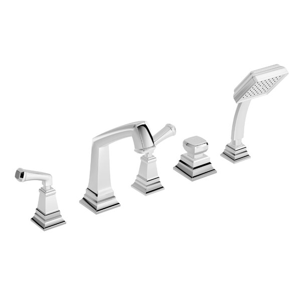 Oxford Double Handle Deck Mount Roman Tub Faucet with Hand Shower by Symmons