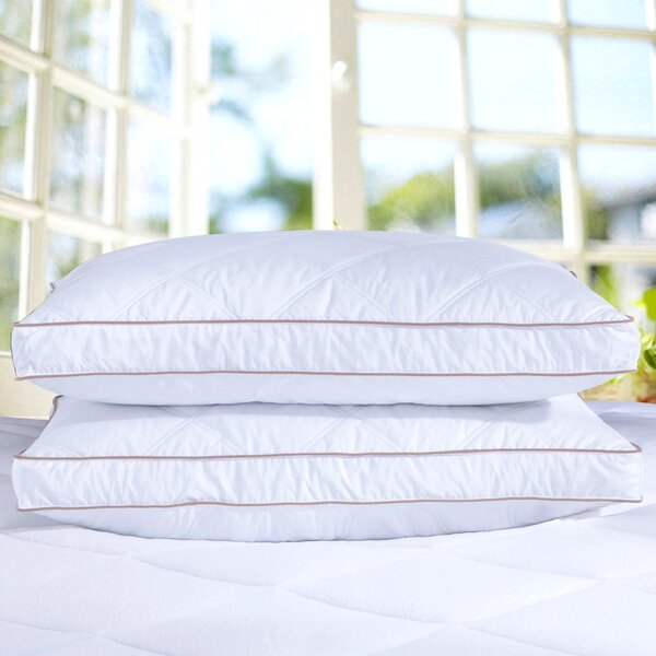 Goose Down Feather Pillow (Set of 2) by Puredown