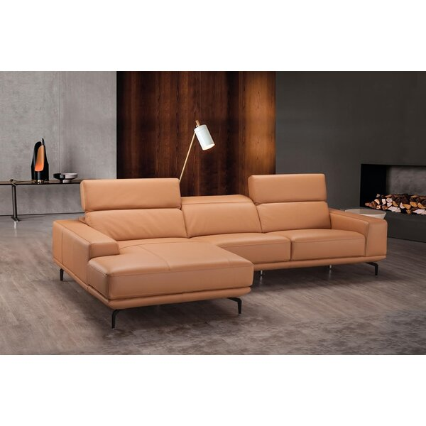 Luxury Brands Piland Leather Left Hand Facing Sectional by Brayden Studio by Brayden Studio