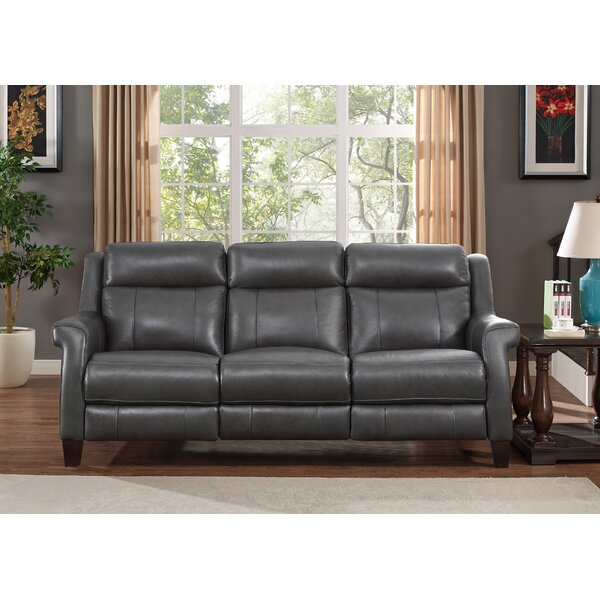 Guyette Leather Reclining Sofa By Red Barrel Studio