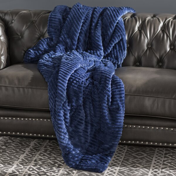 Firmin Corduroy Plush Down Alternative Throw by World Menagerie