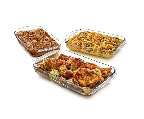 Rectangular 3 Piece Baking Dish Set by Libbey