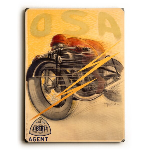 OSA Liberty Motorcycle Graphic Art by Artehouse LLC