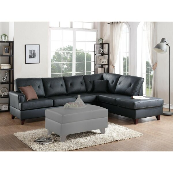 Cordingly Cultured Leather Sectional by Red Barrel Studio