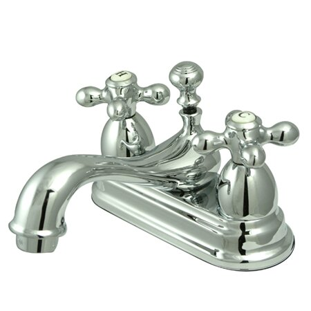 Restoration Centerset Bathroom Faucet with Drain Assembly by Kingston Brass
