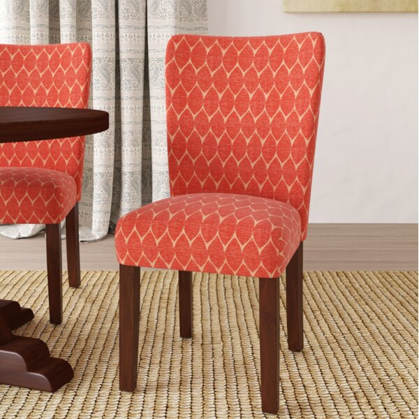 Review Adrien Haverstraw Textured Upholstered Dining Chair (Set Of 2)