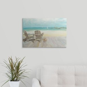Seaside Morning no Window by Danhui Nai Painting Print on Wrapped Canvas by Great Big Canvas