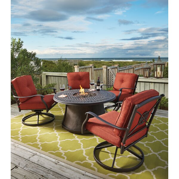 Hanson 5 Piece Dining Set with Firepit by Darby Home Co
