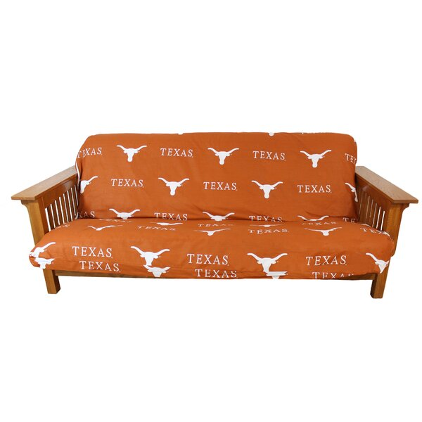 Texas Longhorns Box Cushion Futon Slipcover By College Covers