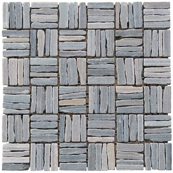Landscape Wonder 12 x 12 Quartzite Alternate Natural Stone Mosaic Tile in Gray by Intrend Tile