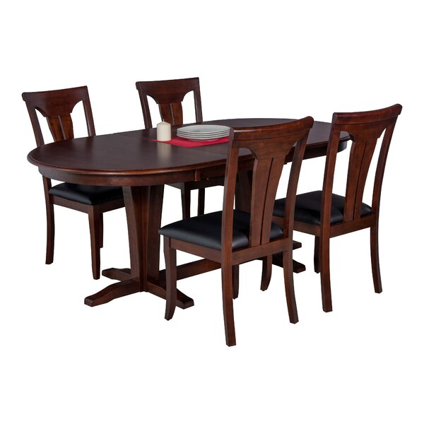 Doretha 5 Piece Solid Wood Dining Set with Curved Back Chair by Darby Home Co