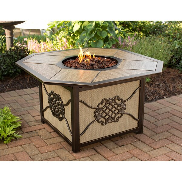 Heritage Aluminum Propane Fire Pit Table by Oakland Living