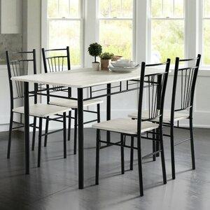Essgruppe Worden mit 4 Stühlen von Hokku Designs