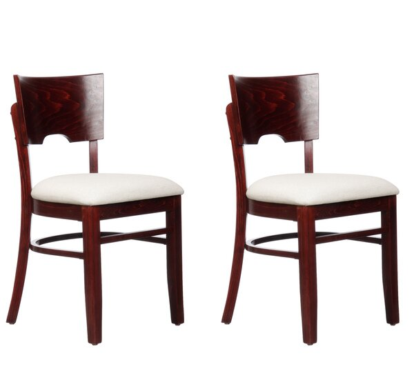 Winston Porter Lipe Linen Solid Wood Side Chair Wayfair