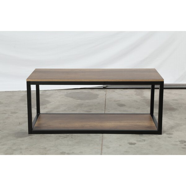 Malinda Floor Shelf Coffee Table with Storage by Union Rustic Union Rustic