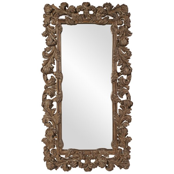 Full Length Copper Leaner Mirror by Astoria Grand