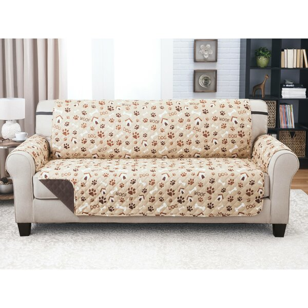 Print T-Cushion Sofa Slipcover By Winston Porter