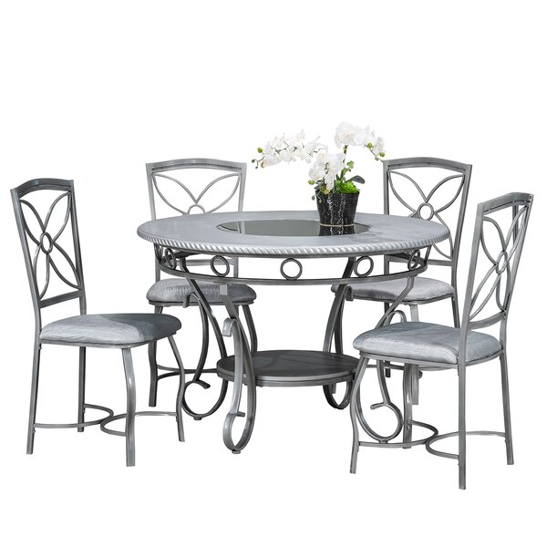 Papineau Metal 5 Piece Dining Set by House of Hampton