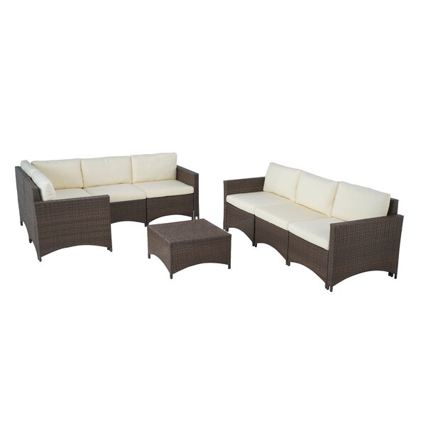 Atlanta 9 Piece Sectional Seating Group with Cushions by Ebern Designs