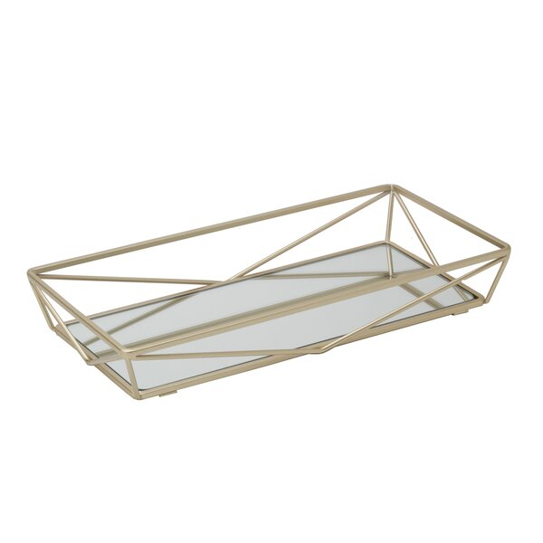 Redgrave Geometric Design Mirror Vanity Tray by Mercer41