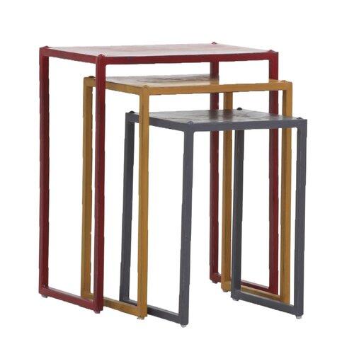 3-tlg. Satztisch-Set Steel WerkStadt | Wohnzimmer > Tische > Satztische & Sets | WerkStadt