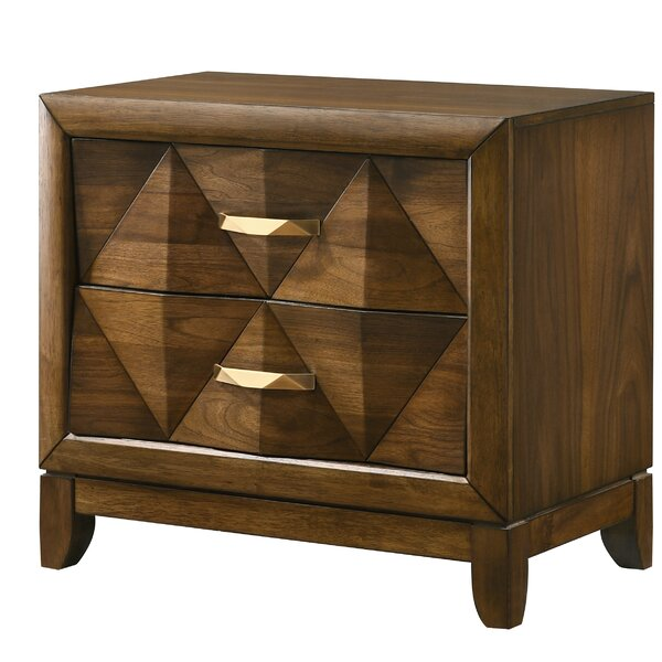 Feltonville Wooden 2 Drawer Nightstand by Union Rustic