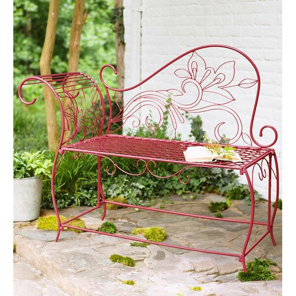 Scroll Metal Garden Bench by Wind & Weather