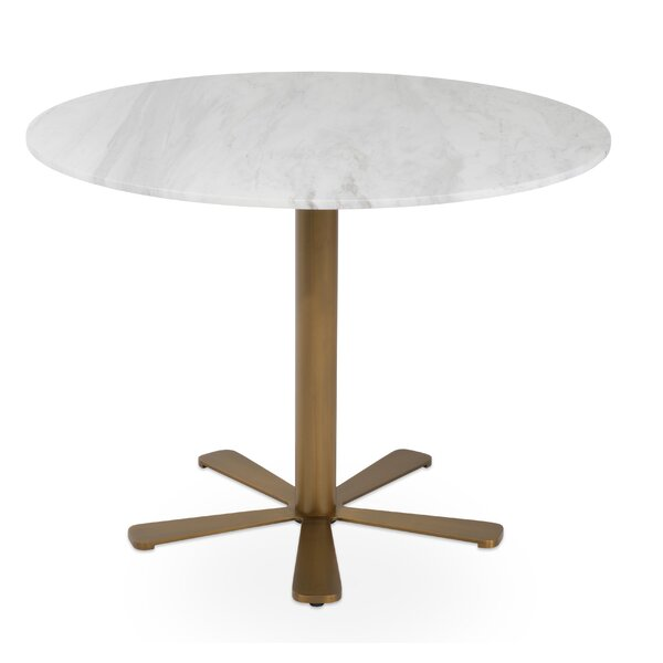 Daisy Brass Gold Marble Table by sohoConcept