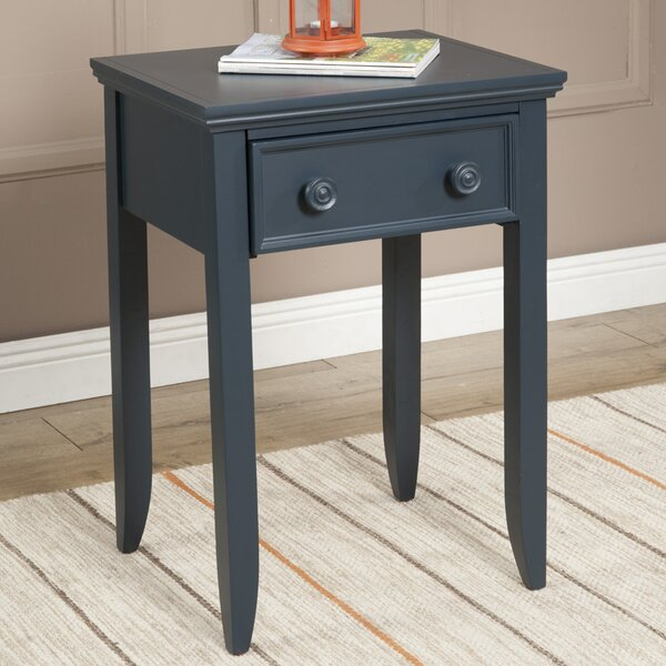 Baileyville 1 Wood Drawer Nightstand by Beachcrest Home