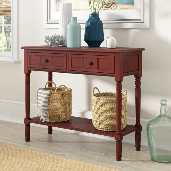 Best Choices Regan 35.8 Solid Wood Console Table by Beachcrest Home