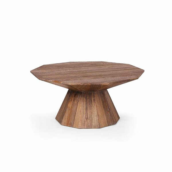 Coppola Solid Wood Pedestal Coffee Table by Loon Peak Loon Peak
