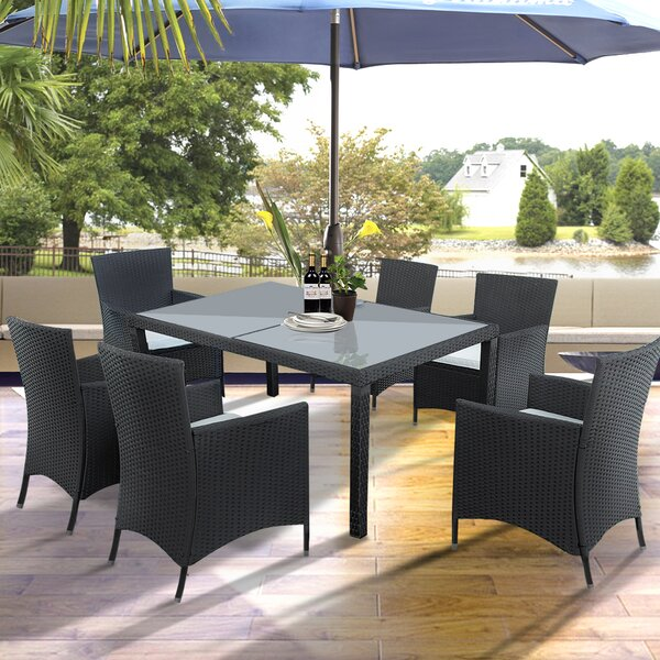 Dolezal 7 Piece Dining Set with Cushions by Bay Isle Home