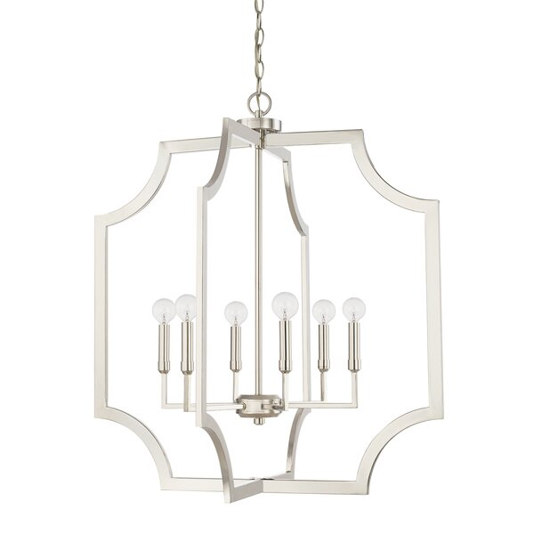 Malvina 6-Light Lantern Geometric Pendant by Mercer41