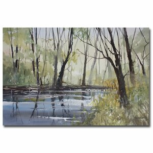 Pine River Reflections by Ryan Radke Framed Painting Print on Wrapped Canvas by Trademark Fine Art