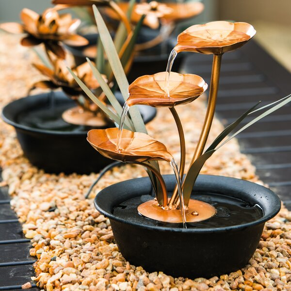 Acrylic Cascading Lily Pads Tabletop Fountain by Evergreen Enterprises, Inc