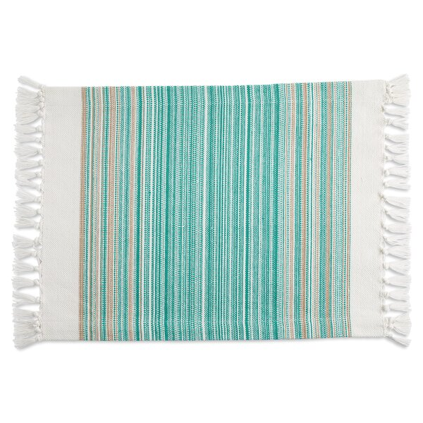 Capecastle Striped Fringe Placemat (Set of 6) by Gracie Oaks