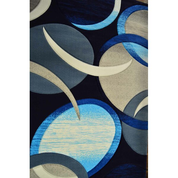 Mccampbell 3D Abstract Blue Area Rug by Ivy Bronx
