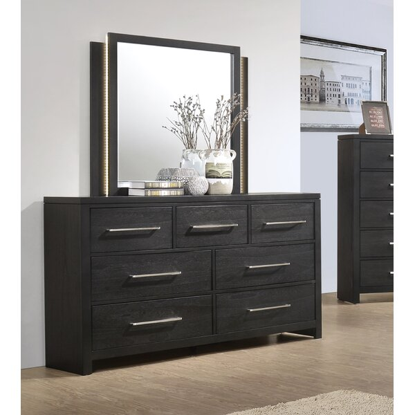 Carr 7 Drawer Dresser with Mirror by Orren Ellis Orren Ellis