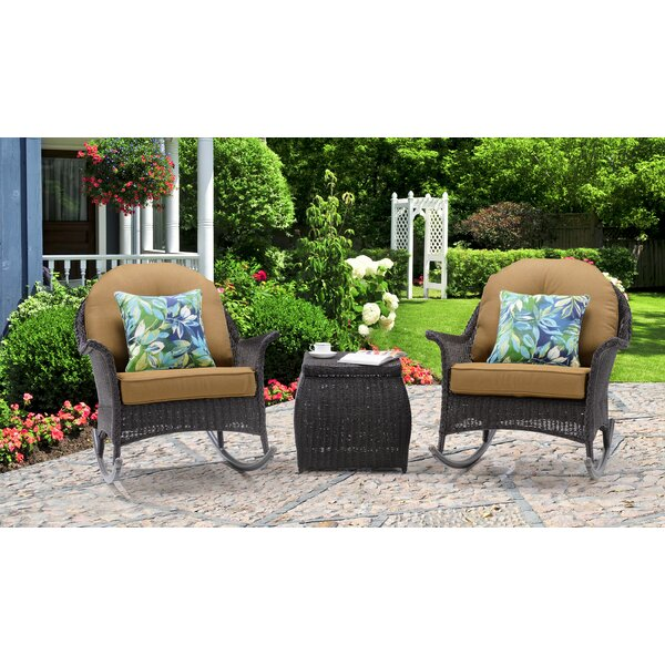 Topsham 3 Piece Rattan Seating Group with Cushions by Alcott Hill