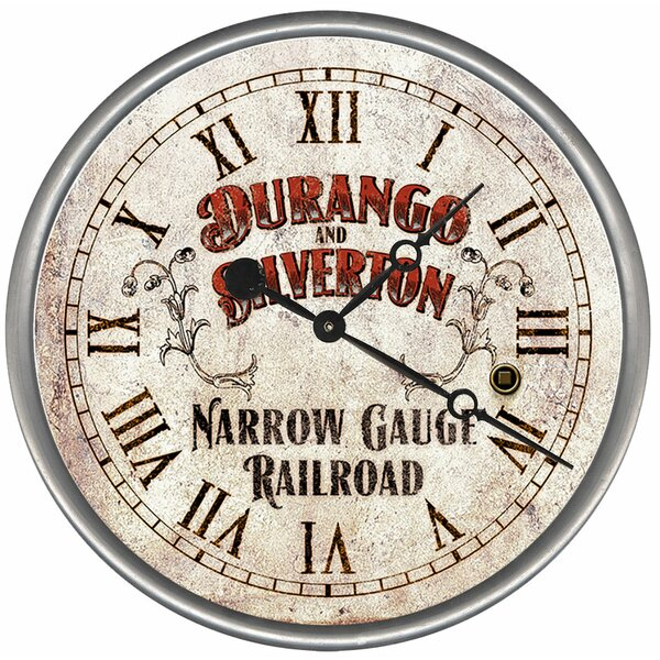 Railroad Wall Clock by Red Horse Arts