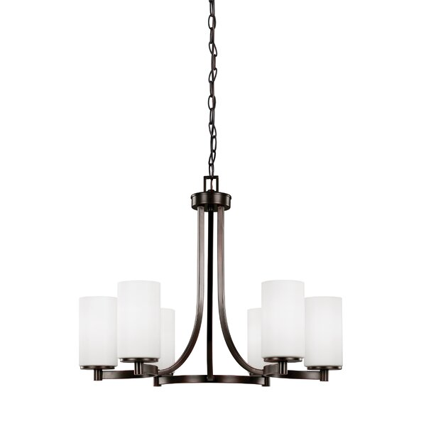 Burnley 6-Light Shaded Classic / Traditional Chandelier by Darby Home Co Darby Home Co