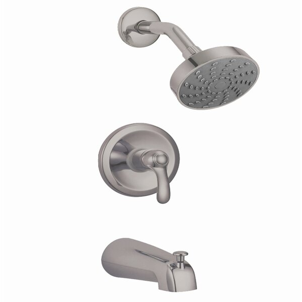 Rhine Thermostatic Tub and Shower Faucet with Valve, Trim, and Diverter by Eisen Home
