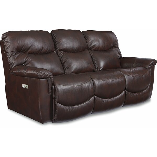 Latest Trends James Genuine Leather Reclining Sofa by La-Z-Boy by La-Z-Boy