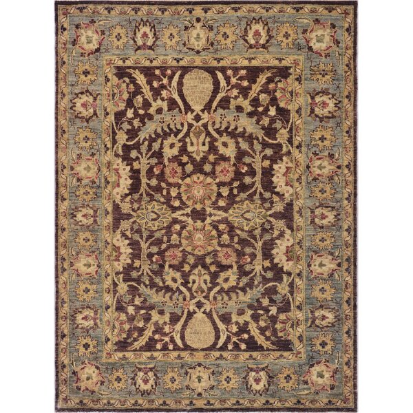 One-of-a-Kind Agra Quality Hand-Knotted Wool Brown/Beige Indoor Area Rug by Mansour