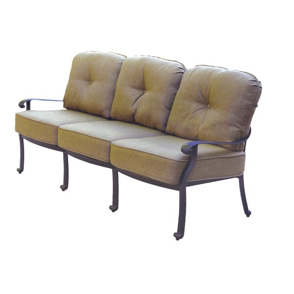 Lebanon Patio Sofa with Cushions by Three Posts