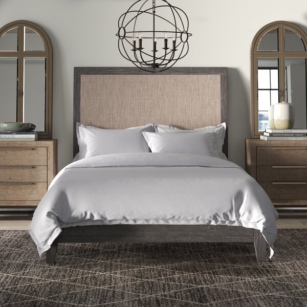 Suzette Upholstered Sleigh Bed by Greyleigh