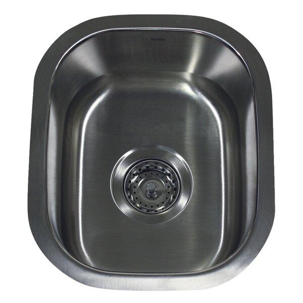 Quidnet 15 L x 12.67 W 18 Gauge Stainless Steel Undermount Bar/Prep Kitchen Sink by Nantucket Sinks